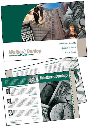 real estate brochure cover. CLIENT: Walker amp; Dunlop Real